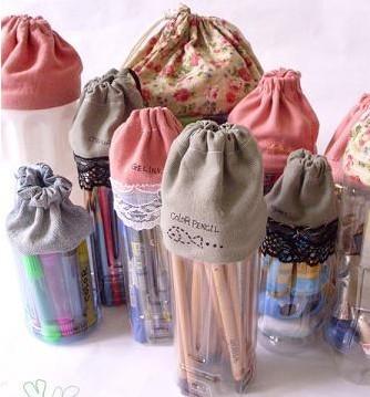 就衣服改造成可以爱的抽口储物罐