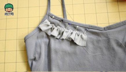 旧衣服再利用,用丝袜做性感褶皱花边