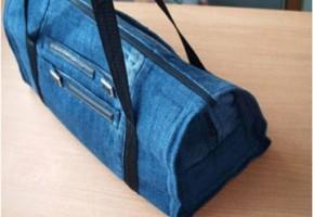 【旧衣服改造】废旧牛仔裤改造,DIY成时尚包包教程
