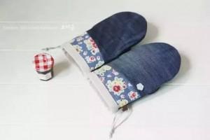 家居生活小创意,旧衣服改造成隔热手套