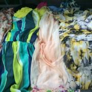 夏季旧衣服-长期供应优质二手旧夏衣-丝绸连衣裙