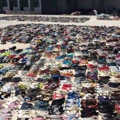 河北工厂出口精品旧鞋子到非洲