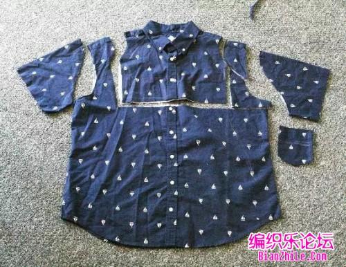 旧衣服改造成收腰连衣裙2
