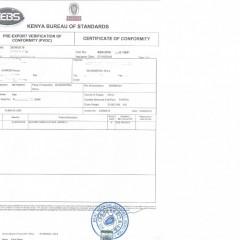 非洲清关COC证书