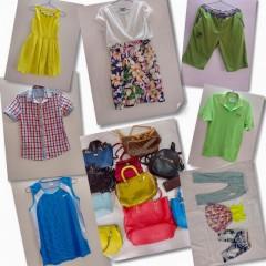 广州工厂大量出口旧衣服夏装、皮包和鞋子