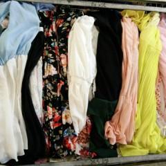 丝连裙、针织衫、靓女裤