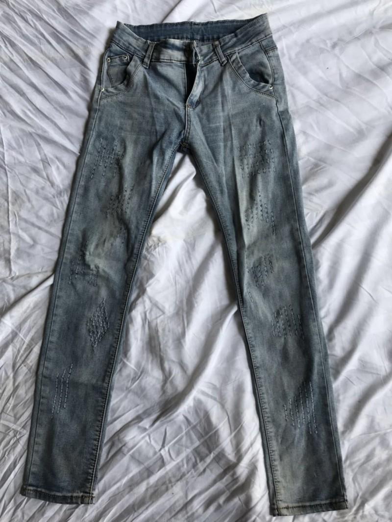 女牛仔小脚裤B
