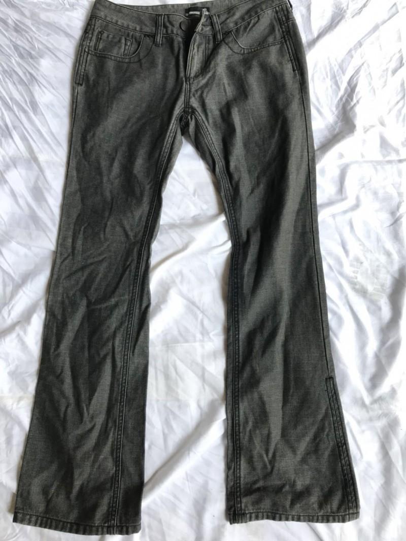 女牛仔大脚裤B1