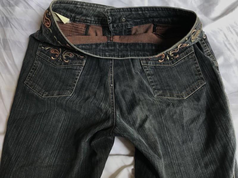 女牛仔大脚裤B5