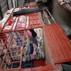 回收旧衣服统货,箱子货。