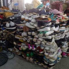 广州二手再生美旧衣服出口鞋子包包床单男运动鞋