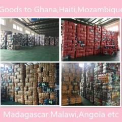 珠海工厂出口分拣打包好的夏衣到非洲市场!