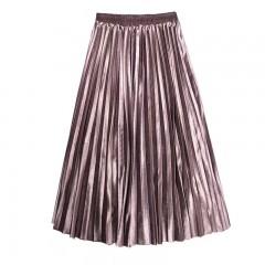 金丝绒百褶裙出售